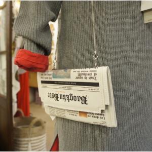 TOPANGA Bag ニュースペーパークラッチバッグ|abracadabra