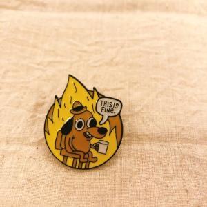 TOPANGA Accessory ピンブローチ Anime dog1|abracadabra