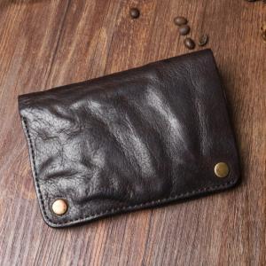 TOPANGA BAG パラグラフ2つ折り財布 チョコ|abracadabra