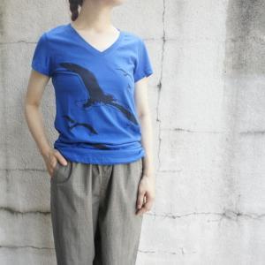 ハンドプリントTシャツ カモメ|abracadabra