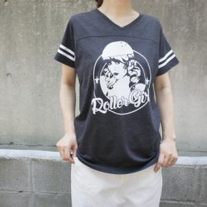 ハンドプリントTシャツ ローラーガール|abracadabra