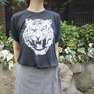 ハンドプリントTシャツ トラ|abracadabra