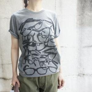 ハンドプリントTシャツ めがね|abracadabra