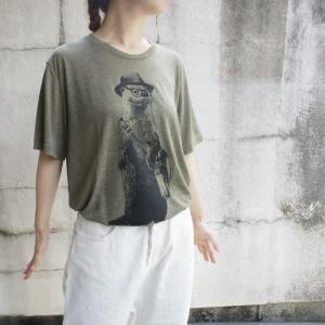 ハンドプリントTシャツ カワウソ|abracadabra