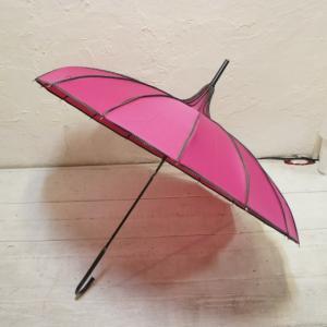 TOPANGA FASHION サーカステントパゴダ雨傘 ピンク abracadabra