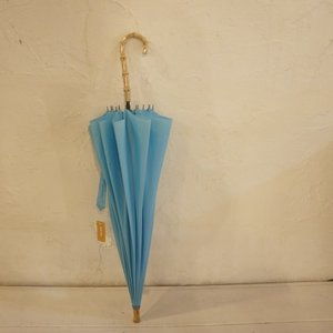 TOPANGA FASHION バンブーハンドル雨傘 ターコイズ|abracadabra
