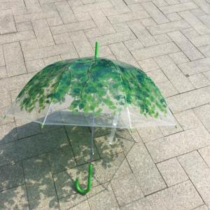 TOPANGA FASHION プリンセスドームクリア雨傘 リーフ|abracadabra
