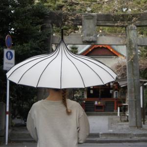 TOPANGA FASHION サーカステントパゴダ雨傘 アイボリー|abracadabra