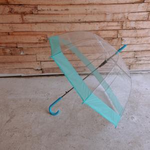 TOPANGA FASHION クリアドーム傘 サックス|abracadabra