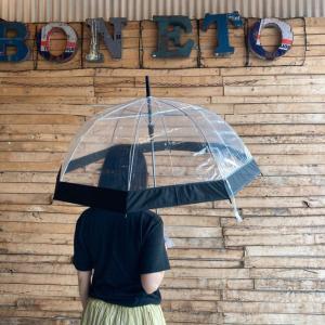 TOPANGA FASHION クリアドーム傘 ブラック|abracadabra
