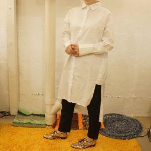Topanga Fashion イレギュラーシャツ シロ abracadabra