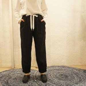 TISSU セットアップ裾ゴムパンツ クロストライプ abracadabra