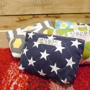 UTILITY canvas USA Zip Pouch Small 全4色|abracadabra