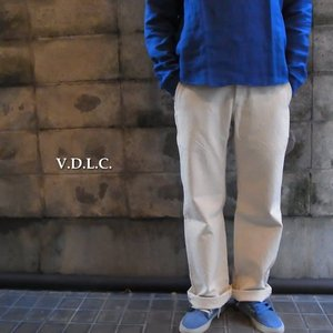 V.D.L.C ブイディーエルシー 倉敷帆布ワークパンツ オフホワイト|abracadabra