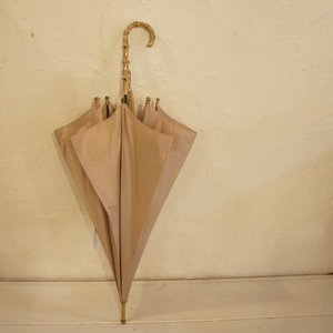 WAKAO(ワカオ) 富士絹ポリエステル長傘 ベージュ|abracadabra