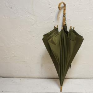WAKAO(ワカオ) 富士絹ポリエステル長傘 カーキ|abracadabra