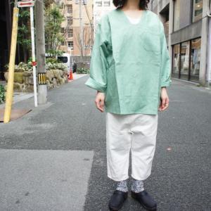 リネンパジャマシャツ ミント|abracadabra