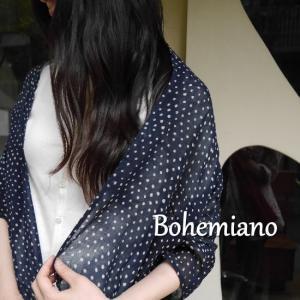 Bohemiano Japan ソフトボイル ドットロングスカーフ 全5色|abracadabra