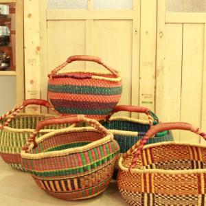 Burkina Basket ラウンドバスケット カラー L 全5種|abracadabra