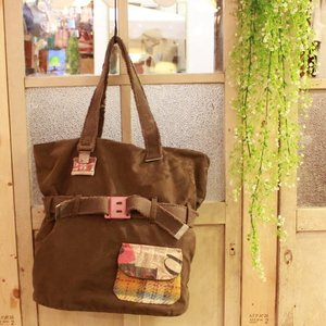 CATHERINE PARRA Spain SAC AUTOINTTE VINTAGE ミリタリーファブリックリメイクトートバッグ カーキ|abracadabra