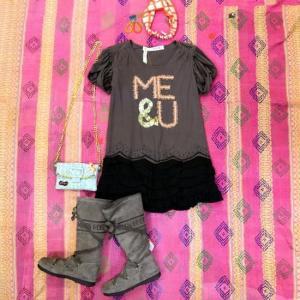 EYE DOLL from L.A アイドール MEANDYOU TUNIC ME&UチュニックTシャツ チャコールグレー|abracadabra