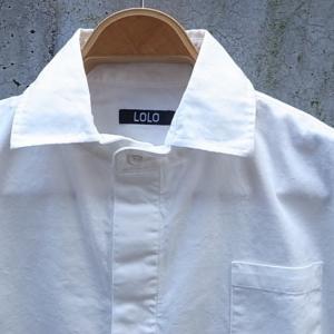 LOLO ロロ 定番比翼シャツ オフホワイト LS-89|abracadabra