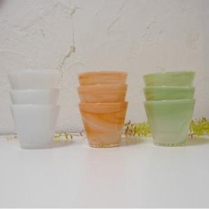 マーブル模様のガラスカップ 140ml 全3色|abracadabra
