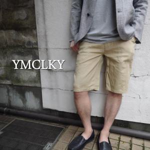 YMCLKY Japan USタイプ NAVY ラミーハーフパンツ ベージュ(サイズにより約一カ月でのお届け)|abracadabra