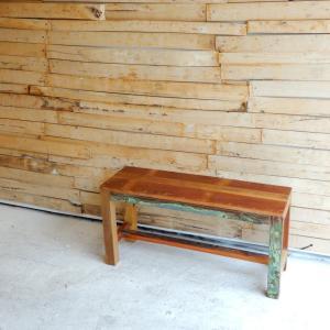 TOPANGA リサイクルウッドベンチ W90cm|abracadabra
