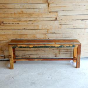 TOPANGA リサイクルウッドベンチ W120cm|abracadabra