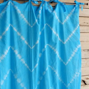 TOPANGA Shibori Curtain シボリカーテン W110xH200cm 青|abracadabra