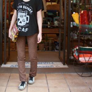 Westwood Outfitters ウエストウッドアウトフィッターズ ジャガードストレッチスキニーパンツ ペイズリー柄 ブラウン|abracadabra