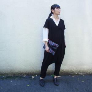 オリガミジャンプスーツ ブラック|abracadabra