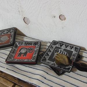 KENYA ソープストーン 四角絵皿(アソートタイプ)|abracadabra
