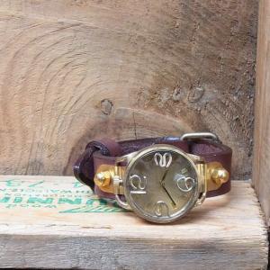 Arty Arty Japan nabe AMENBO.Jr アメンボジュニア真鍮腕時計/ダークブラウン|abracadabra