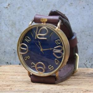 Arty Arty Japan nabe JCB giga ビッグフェイス手作り腕時計 ダークブラウン  約1ヶ月でのお届け|abracadabra