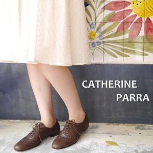 CATHERINE PARRA Spain ディアスキンウィングチップシューズ  ブラウン|abracadabra