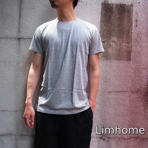 Limhome Japan コットン半袖Tシャツ グレー|abracadabra