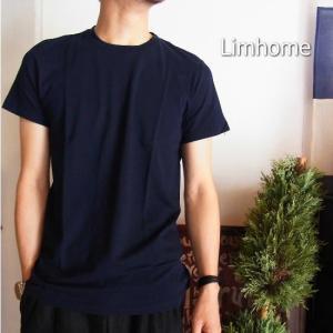 Limhome Japan コットン半袖Tシャツ ネイビー|abracadabra