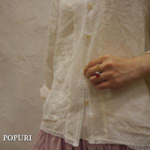 POPURI Japan ドロップリング/レッド|abracadabra