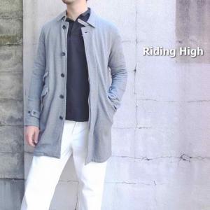 RIDING HIGH Japan  スウェットステンカラーコート グレー RH-796|abracadabra