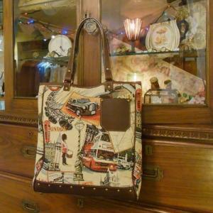 Saponetta(サポネッタ) EVA エヴァトートバッグ ロンドン柄 約2ヶ月でのお届け|abracadabra