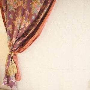 ダブルコットンカーテン フラワー 110x180cm|abracadabra