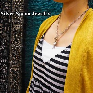 SILVER SPOON JEWELRY USA アンティークスプーンネックレス/ローズバッド|abracadabra
