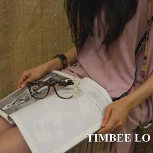 TIMBEE LO Hong Kong 天使のメガネ ブラウン|abracadabra