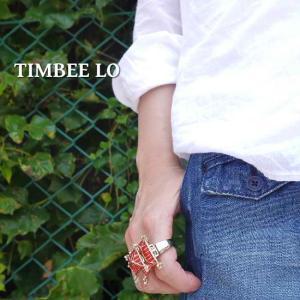 TIMBEE LO Hong Kong ジャパニーズテンプルリング レッド|abracadabra