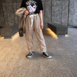 TISSU セットアップ裾ゴムパンツ ベージュ|abracadabra