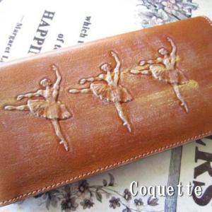 Coquette コケット バレリーナレザー2つ折長財布|abracadabra