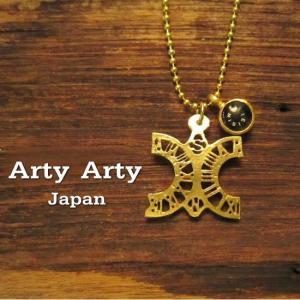 Arty Arty Japan 逆円環式日時計ペンダント  KP-43 ゴールド 約1ヶ月でのお届け|abracadabra