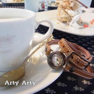 Arty Arty Japan MACE  真鍮二重巻き腕時計 キャメル 約1ヶ月でのお届け|abracadabra